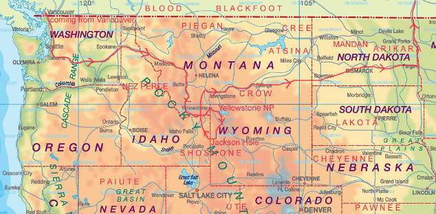 Us Physical Map United States And Canadian Provinces Map Maps Of North West Us Map
